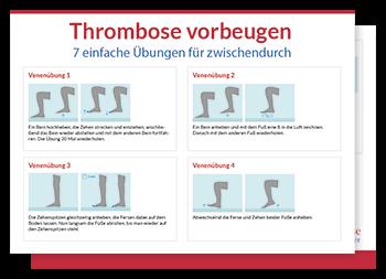 Thrombose Erste Anzeichen